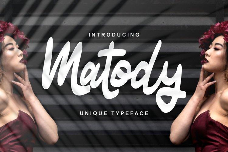 Matody   Unique Typeface Script example image 1