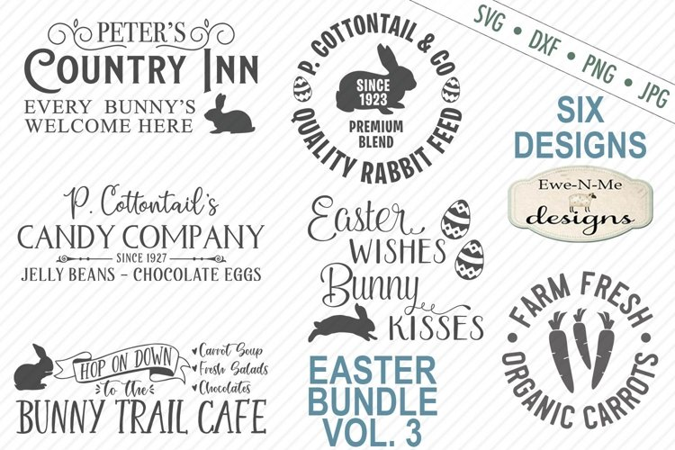 Easter Bundle - Volume 3 - Easter Bunny - SVG example image 1