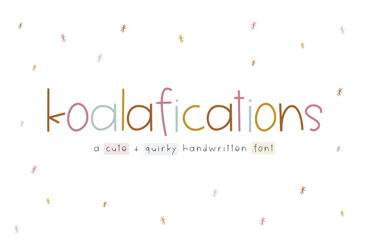 Koalafications - A Cute Handwritten Font example image 1