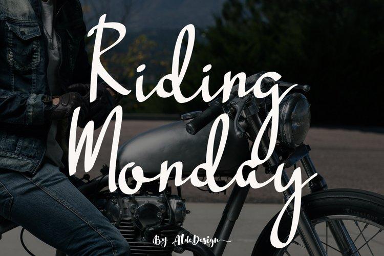 Riding Monday example image 1
