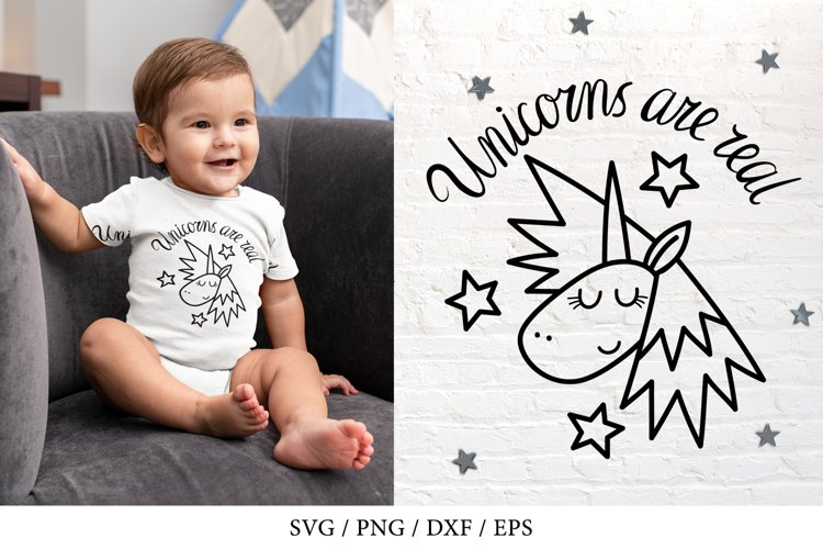 Unicorn SVG with stars, Unicorns are real