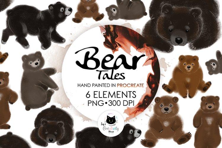 Cute Bear Sublimation PNG Bundle   Nursery Bear Clipart example image 1