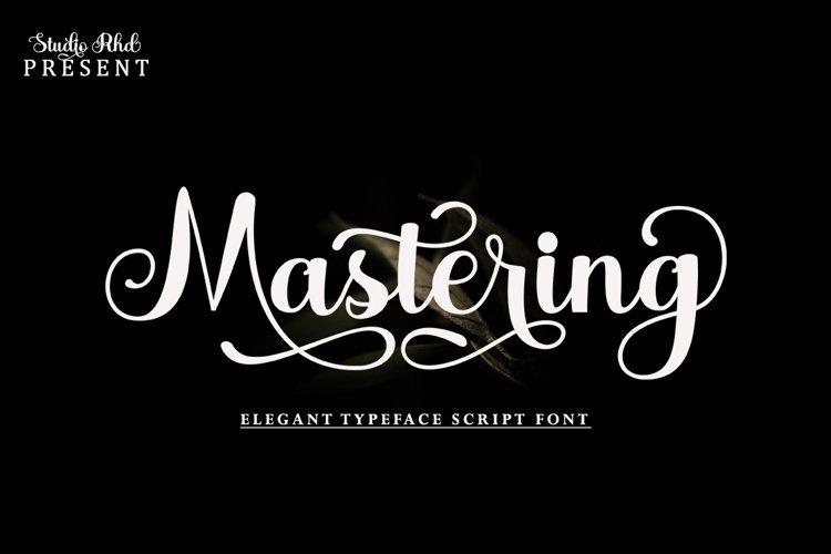 Mastering Script example image 1