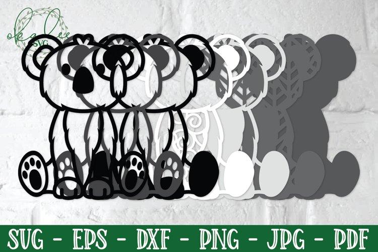 3D Jungle Animal SVG, Papercut Koala, Rhino SVG, Layered SVG example 1