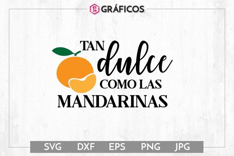 Tan dulce como las mandarinas SVG - Otoño SVG example image 1