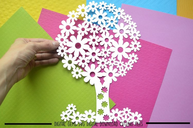 Tree paper cut SVG / DXF / EPS files example image 1