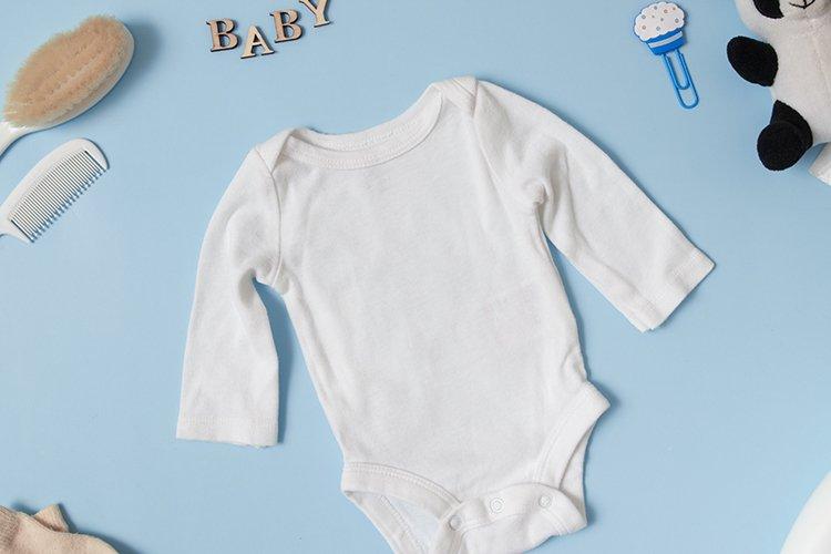 Baby clothes mockup t-shot