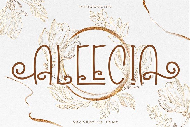 Aleecia   Decorative Font example image 1