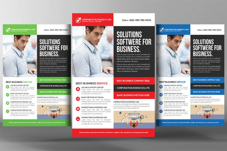 Marketing Consulting Business Flyer Template example image 1