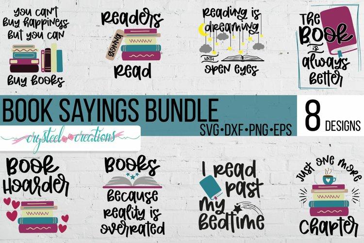 Book Saying Bundle SVG, DXF, PNG, EPS
