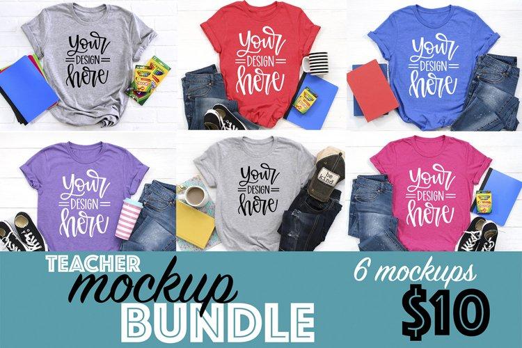 T-shirt Mockups, Casual Teacher Mockups, School Bundle