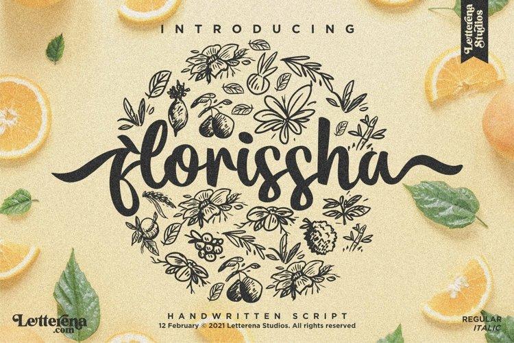 florissha - Beautiful Script Font example image 1