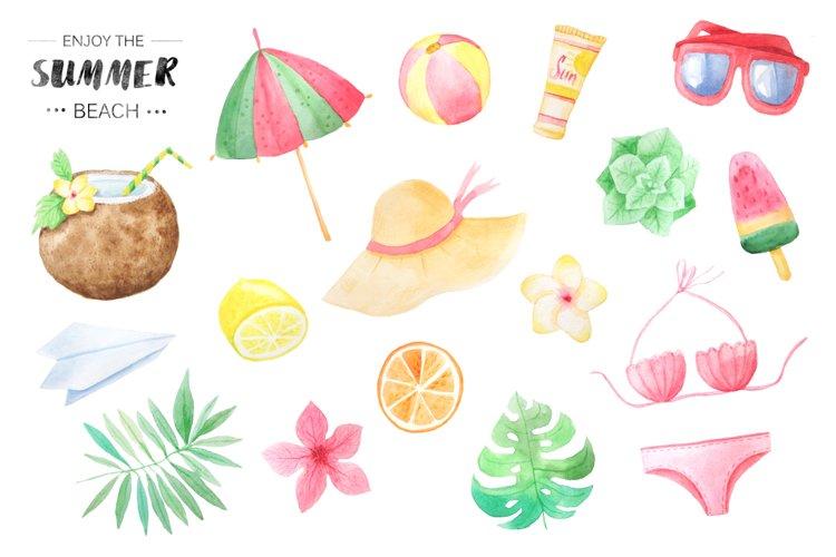 Watercolor Beach Set example 2