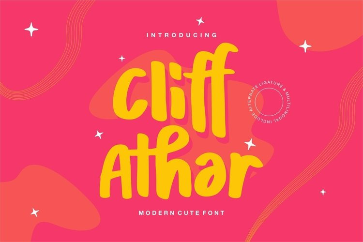 Web Font Cliff Athar - Modern Cute Font example image 1