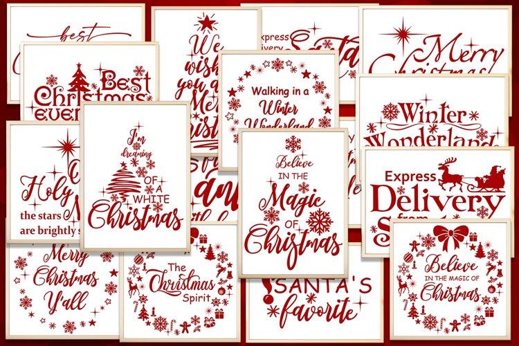 Christmas svg bundle Merry christmas svg Christmas sayings example image 1