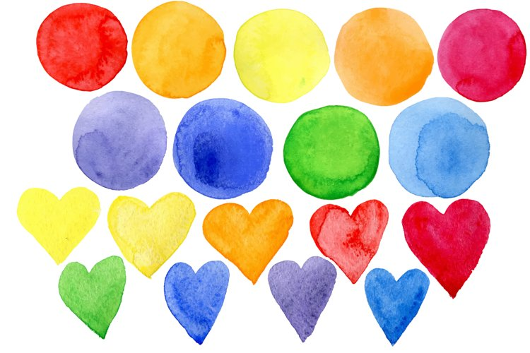 Vector bright watercolor stains example 2