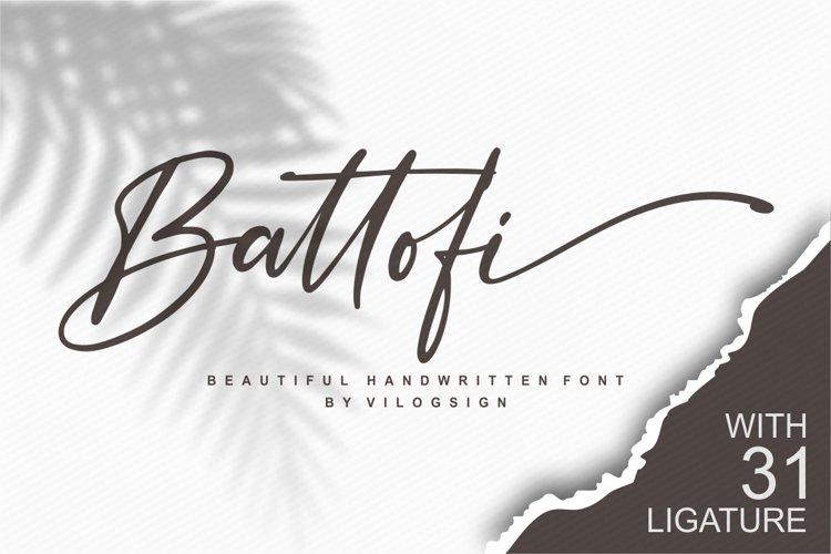 Battofi Handwritten Font example image 1