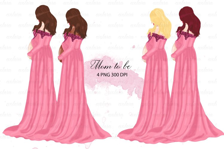 Mom Clipart Mom to be Pregnancy Clipart Pregnant Woman