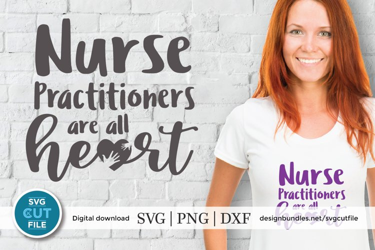 Nurse practitioner svg - an NP svg with heart for crafters example image 1