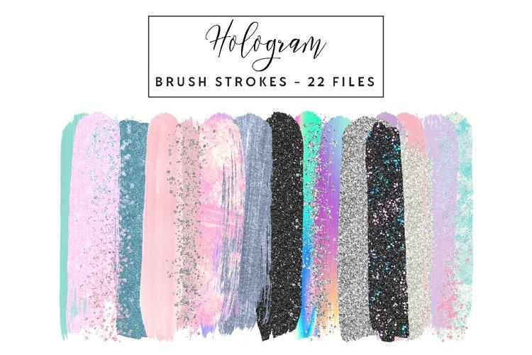 Hologram Brush Strokes Clip Art example image 1