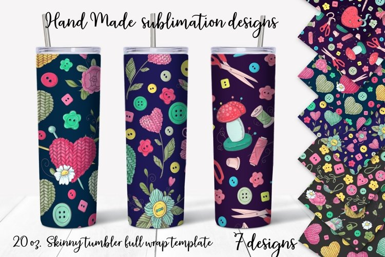Hand Made design. Skinny tumbler wrap design.