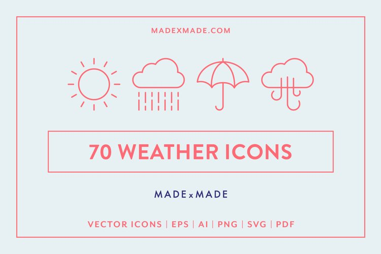 Line Icons - Weather example image 1