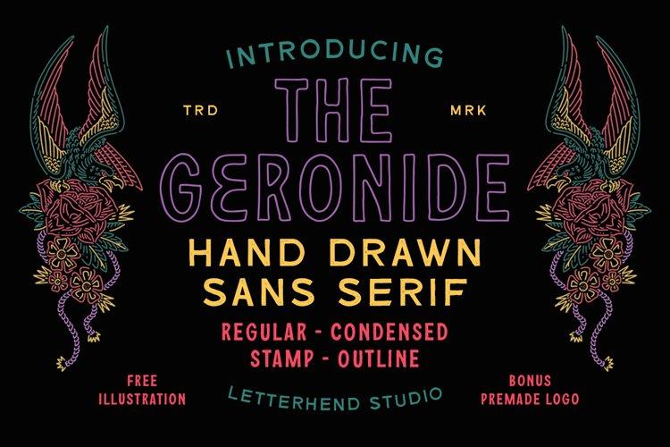 The Geronide - Hand Drawn Sans Serif example image 1