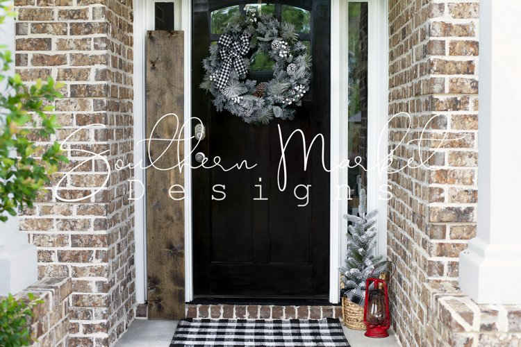 Christmas 6 foot 1x10 Front Porch Wood Sign Real Wood MockUp