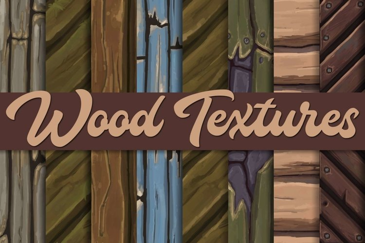 Hand-painted wood textures |Tileable example image 1