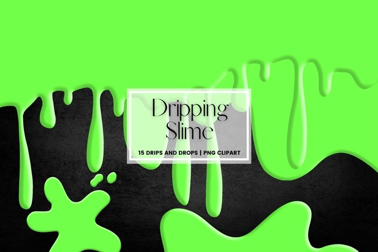 Dripping Slime Border Clipart
