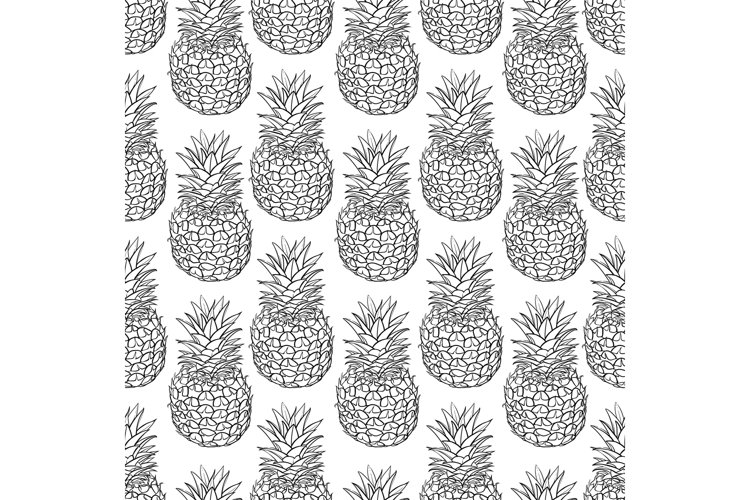 Vector seamless pattern of pineapple example image 1
