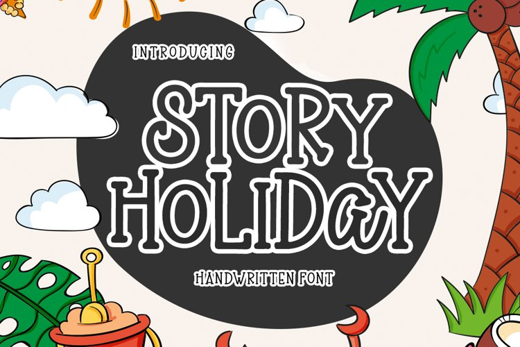 Story Holiday - Handwritten Font example image 1