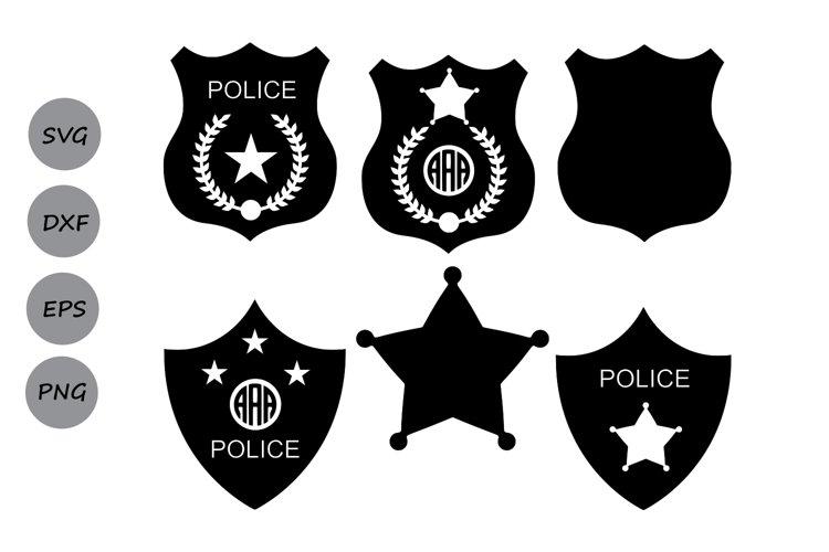 Police Badge SVG, Police SVG, Police Badge Monogram SVG.