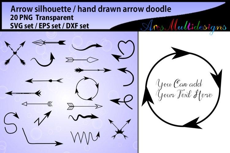arrows silhouette svg / Arrows doodle SVG file / hand drawn doodle / illustration, vector file / Eps / Dxf / Png