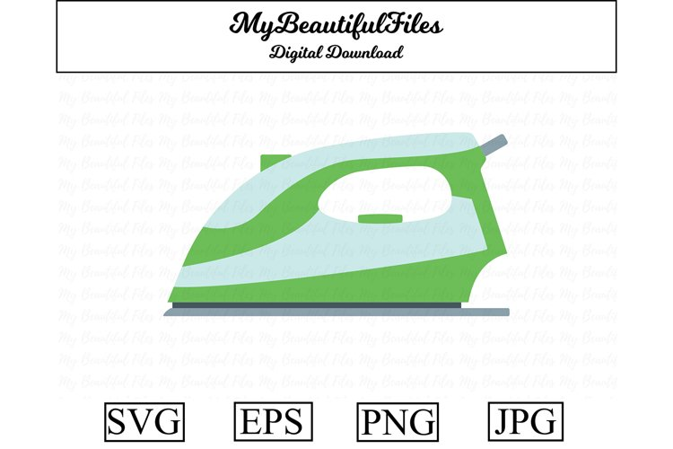iron SVG - household SVG, EPS, PNG and JPG example image 1