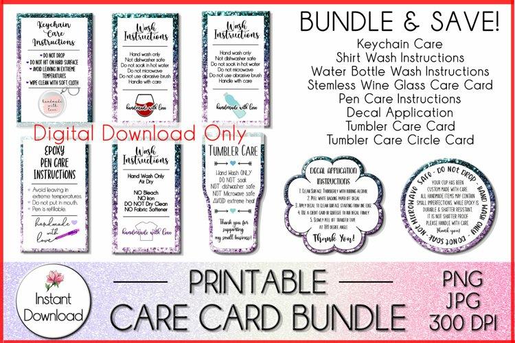 Care Card Bundle, Shirt Wash, Tumbler Care, & More!