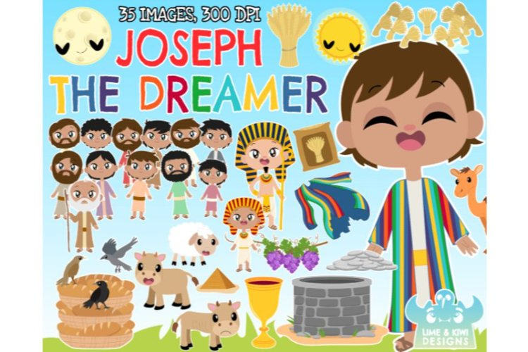 Joseph The Dreamer Clipart - Lime and Kiwi Designs