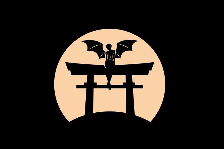 Angel Moon Logo Design Vector example image 1