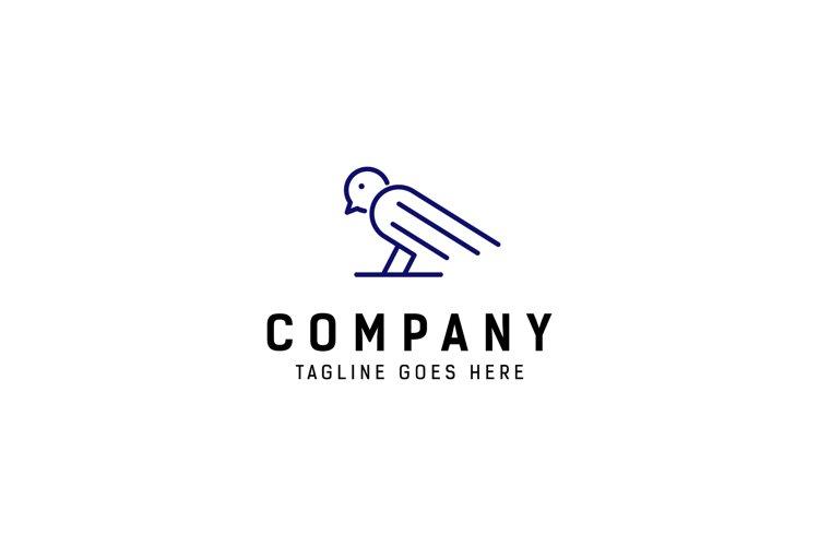 monoline bird logo example image 1