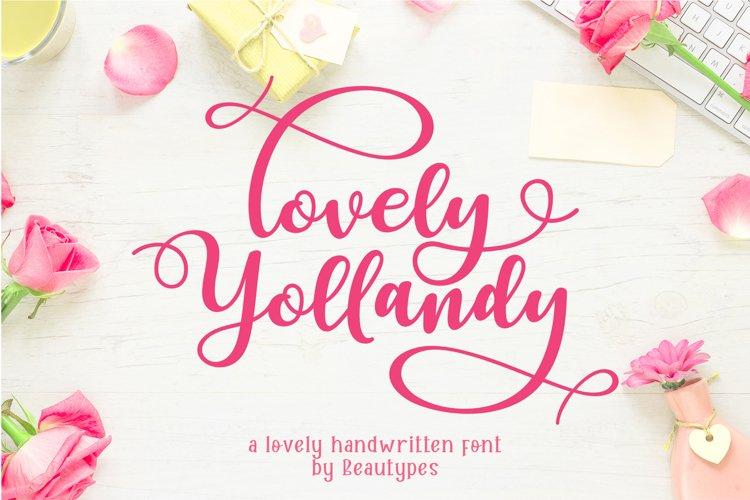 Lovely Yollandy - Script Font example image 1