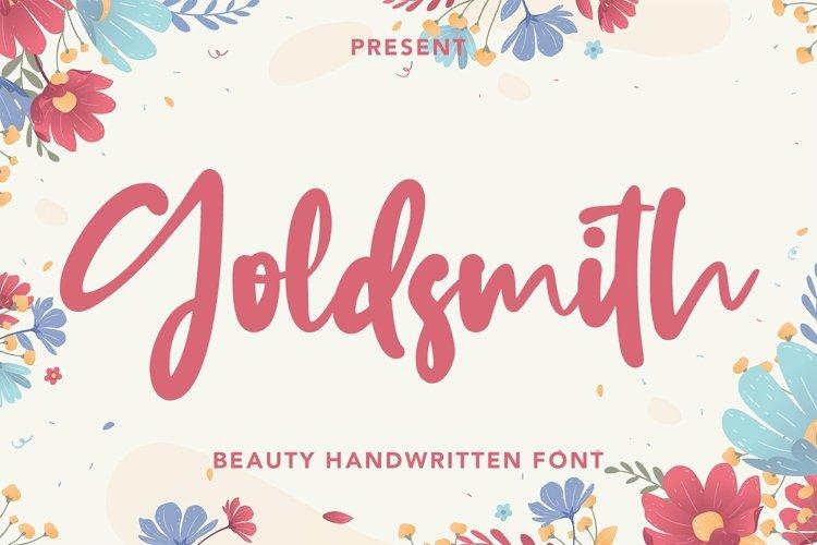 Web Font Goldsmith - Beauty Handwritten Font