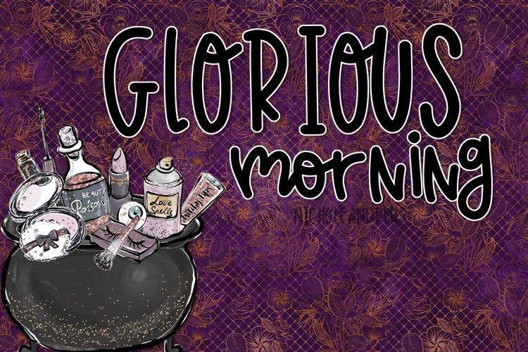 Glorious Morning - A Handwritten Print Font example image 1
