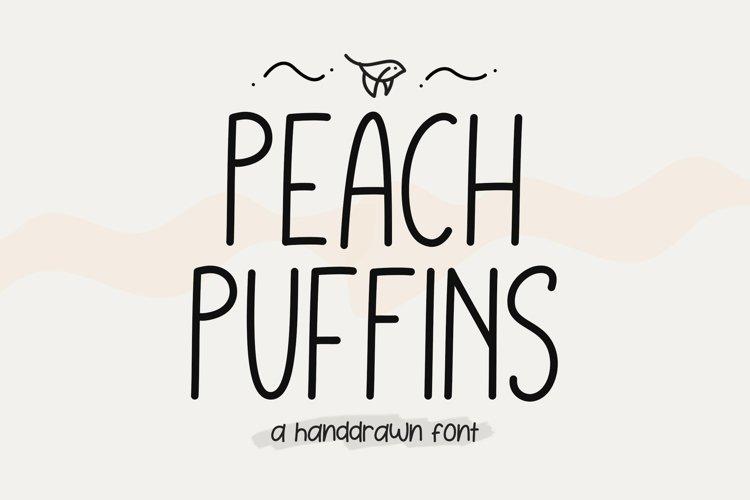 Peach Puffins - Monoline