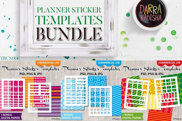 Templates Bundle Vol. 6 - Planner stickers Digital DIY Kit