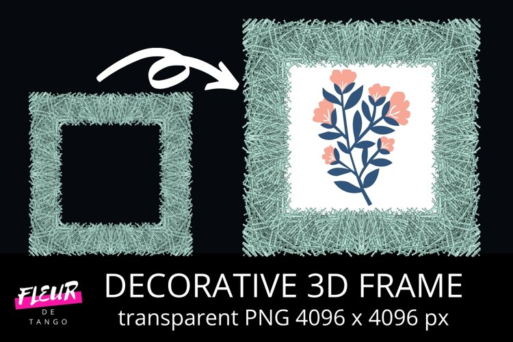 3D FRAME Clipart example image 1