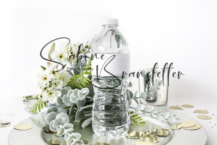 Styled Stock Photo Party Water Bottle Label PSD/JPEG Mockup example image 1