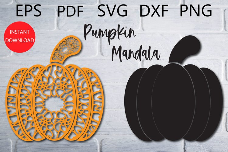 Pumpkin Mandala SVG Cut File for Cricut example image 1