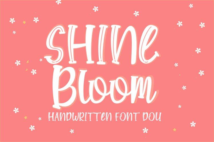Shine Bloom - Handwritten Font Duo example image 1