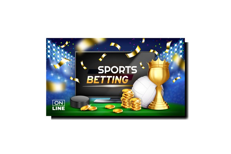 Sports Betting Gamble Promotional Banner Vector example image 1
