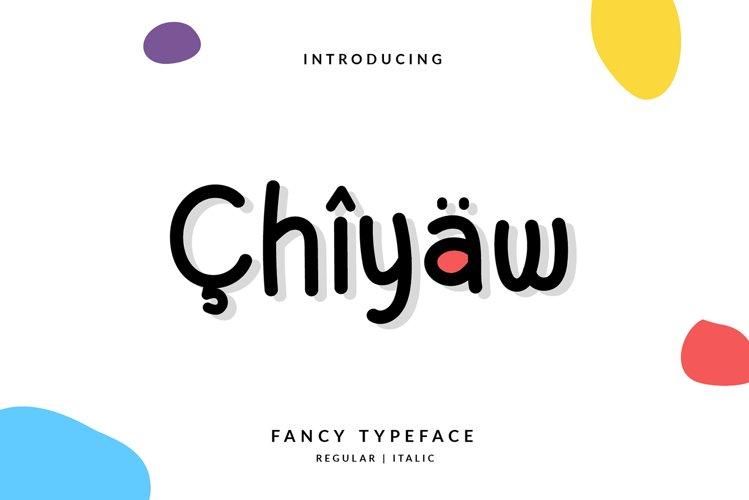 Chiyaw Handwritten